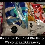 Solid Gold Pet Food Challenge Wrap-up and Giveaway