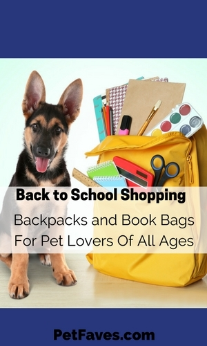 You want to make sure you choose just the right backpack for back to school. It should be comfortable, have plenty of room for books and supplies, but mostly you want to make sure it is cool. Check out these cool backpacks for pet lovers.