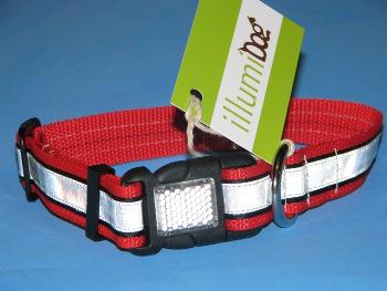 Illumidog Reflective Collar Red