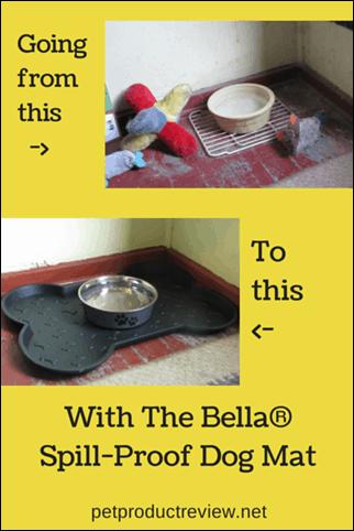 The Bella Spill Proof Dog Mat