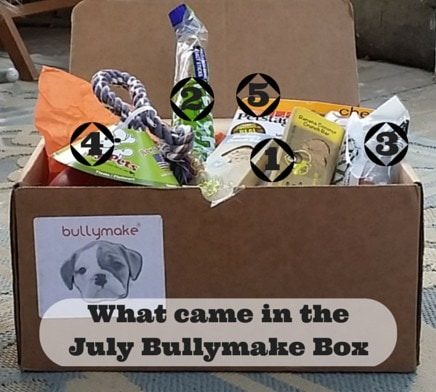 July Bullymake box contents