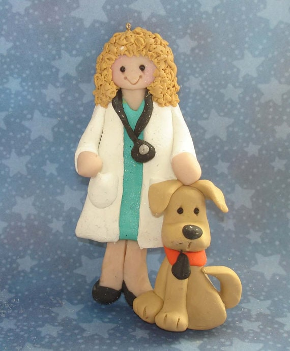 Veterinarian ornament by alongcameaspider1 on Etsy #veterinarian #vetgift #ornament #giftidea