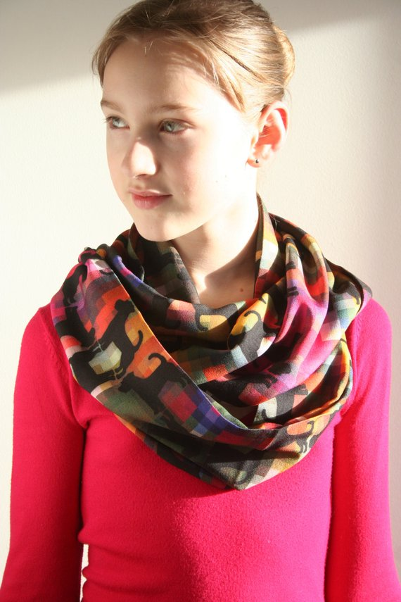 Infinity Scarf featuring Jack Russell Terriers