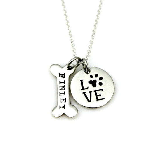 Personalized Dog Lover Necklace by TinyEpicMoments on Etsy