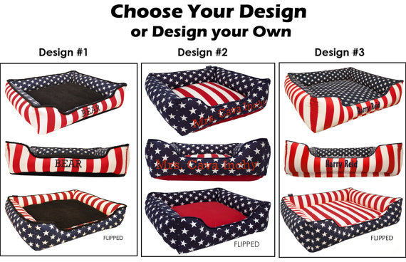 Your dog and cat can enjoy the 4th of July celebration in style with a patriotic pet bed.
