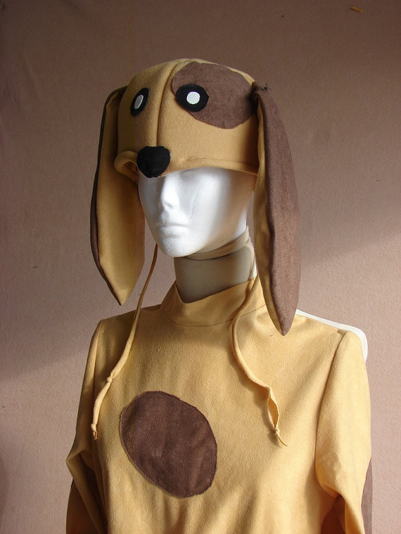 Kids of all ages would look cute in this floppy ear dog costume for Halloween.