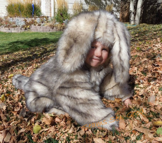 Furry dog costume for kids