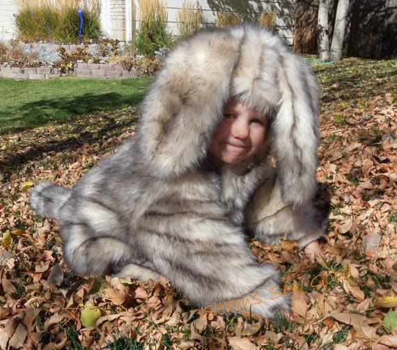 Furry dog costume for kids