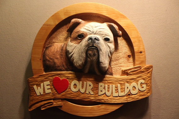 Pet Faves | Custom Carved Pet Sign | Pet parents love to advertise the love the have for their pet. A custom carved wood pet sign will put that love on display.