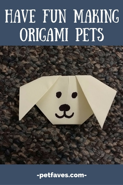 Have Fun Making Origami Pets | From PetFaves.com | All you need is some paper and you are ready to make any of these cute Origami pets that I rounded up.