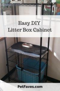 Easy DIY Litter Box Cabinet