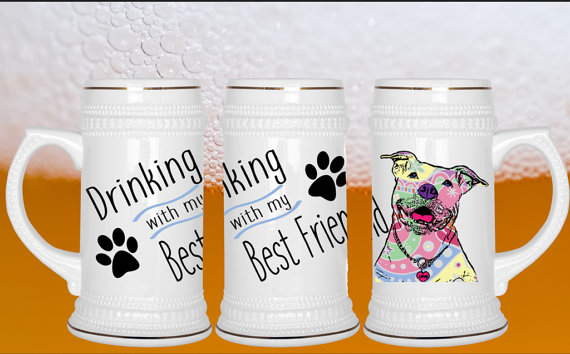 The Dog Dad who enjoys beer would love a beer stein featuring his best friend- his dog. Find more Father's Day gift ideas for your favorite Dog Dad at PetFaves.com