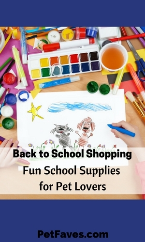 You get the list of back to school supplies- pencils, erasers, ruler, etc. Same ole supplies, but they don't have to be the same ole boring supplies. Jazz it up! Get supplies that a pet lover will be happy to pull out and use like these featured by Pet Faves.