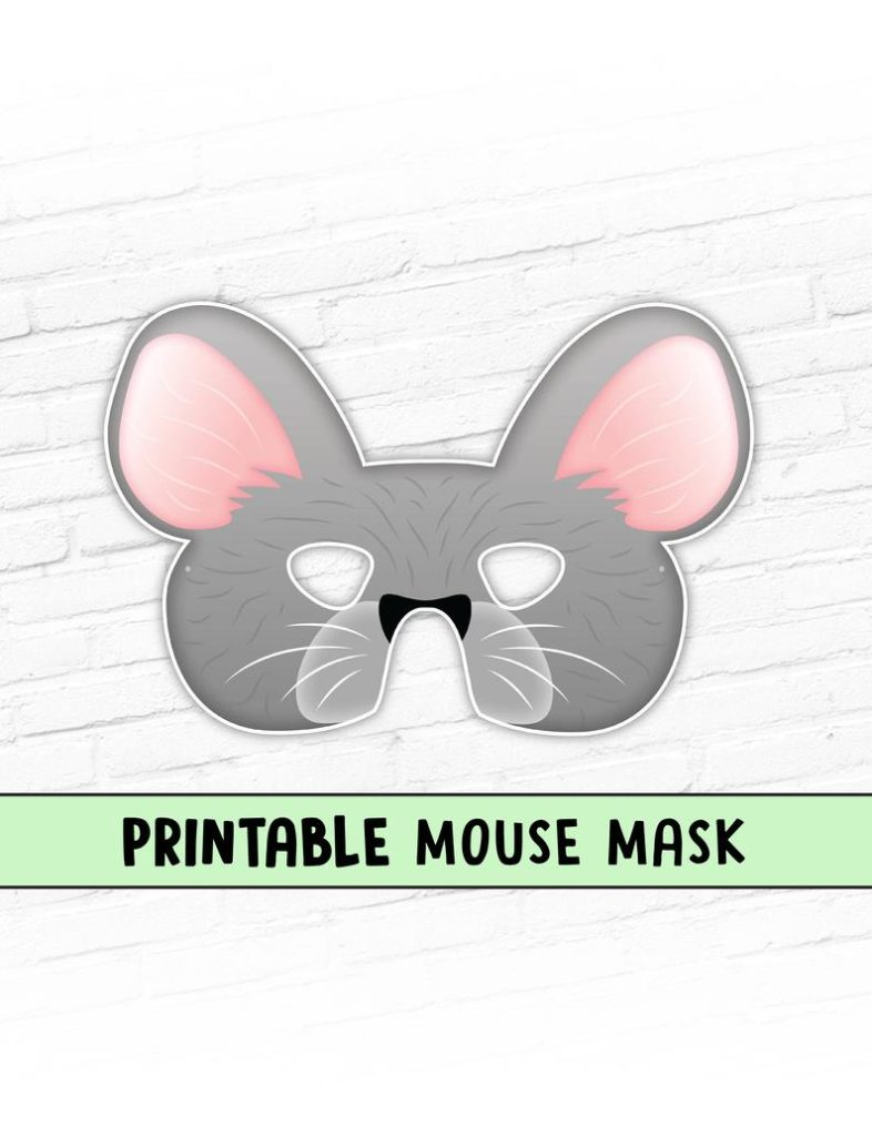 Printable Mouse mask