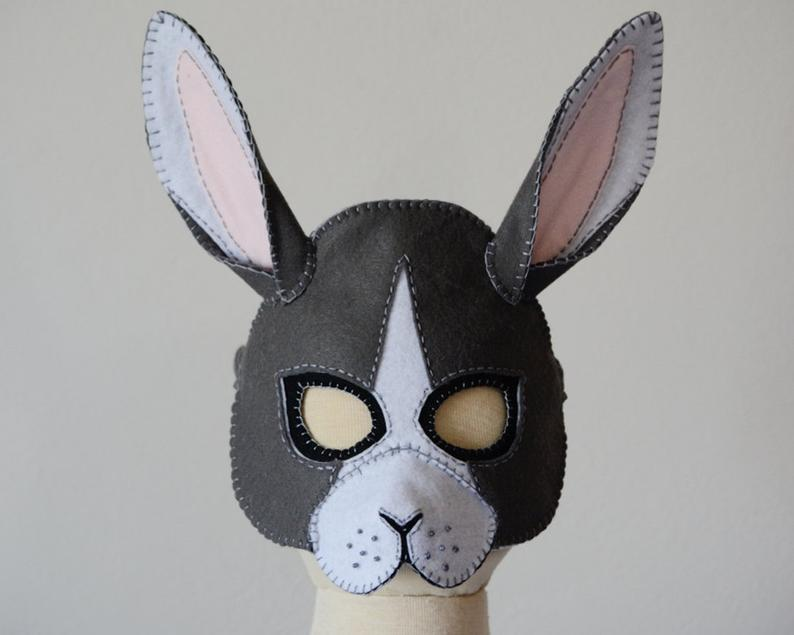 Pattern for rabbit face mask