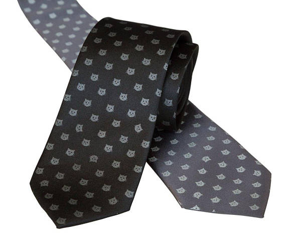Cat Silk Tie from Cyberoptix on Etsy