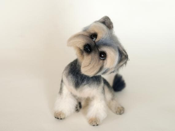 Needle felted Yorkshire Terrier
