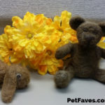 Needle felted bear and bunny