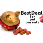 Best Deals For Pet Parents facebook Group Image with piggy bank, dog collar and dog biscuits