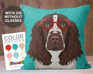 Springer Spaniel Pillow by Phurbaby