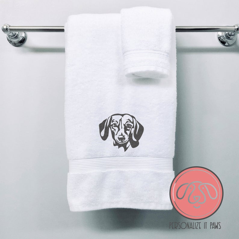 Embrodiered Dog Towel from Personalizeitpaws on Etsy