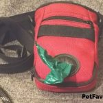 red dog poop bag holder